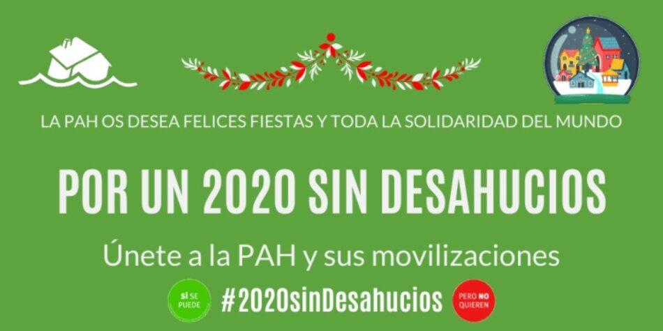 PAH: «por un 2020 sin desahucios»