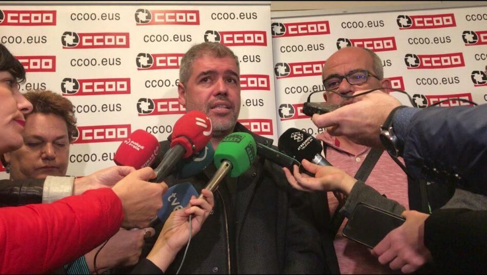 """Unai Sordo: """"El SMI tiene que ser el 60% de la media salarial del país, 1.000 euros netos"""""""