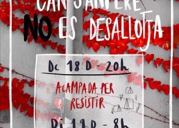 L'assemblea de Can Sanpere exigeix l'aturada del desallotjament de la fàbrica de Premià de Mar