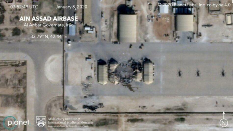 Fotos satelitales revelan daños del ataque iraní a base de EEUU