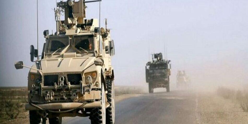 Fuerzas de ocupación estadounidenses evacuan su base ilegal en Khirab Al-Jeer, Hasakeh