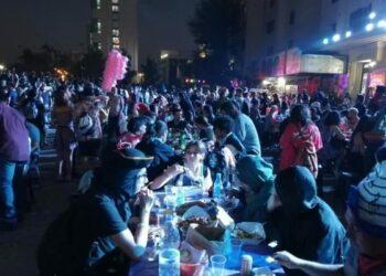 Chile. El 2020 recibido en la Plaza,que lució más digna que nunca