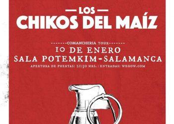 El concierto de «Los Chikos del Maíz» se traslada a la Sala Potemkin tras censura del Ayuntamiento de Salamanca