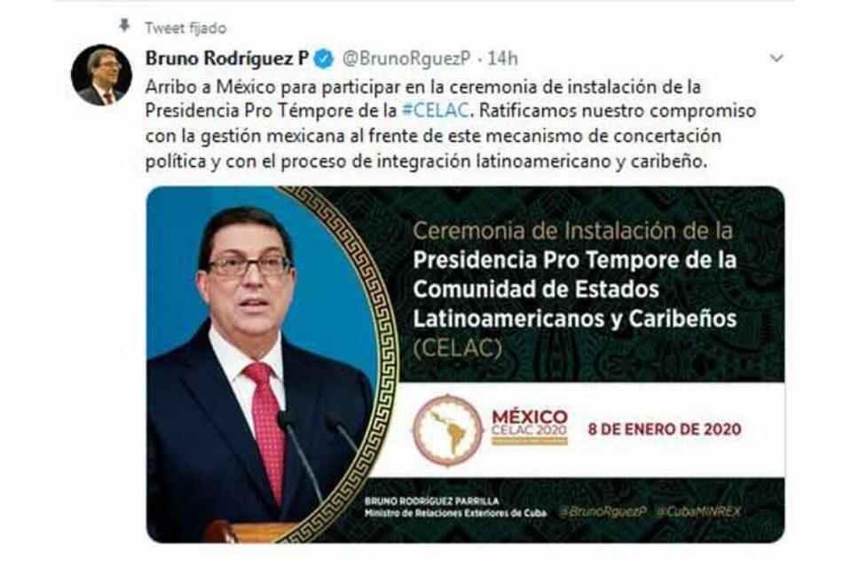 El Ministro de Relaciones de Exteriores de Cuba, Bruno Rodríguez, abogó hoy en México por revitalizar la Comunidad de Estados Latinoamericanos y Caribeños (Celac)