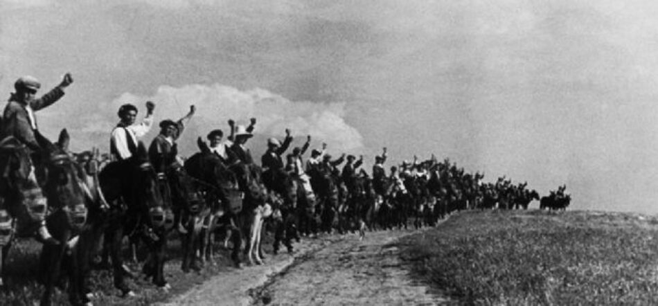 Ocupación de tierras en Extremadura. 25 de marzo de 1936