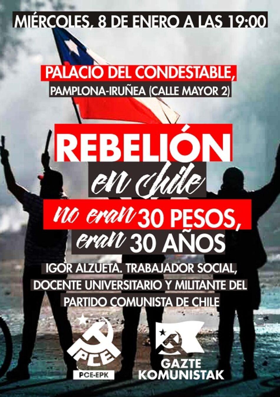 """Charla """"Rebelión en Chile. No eran 30 pesos, eran 30 años"""""""