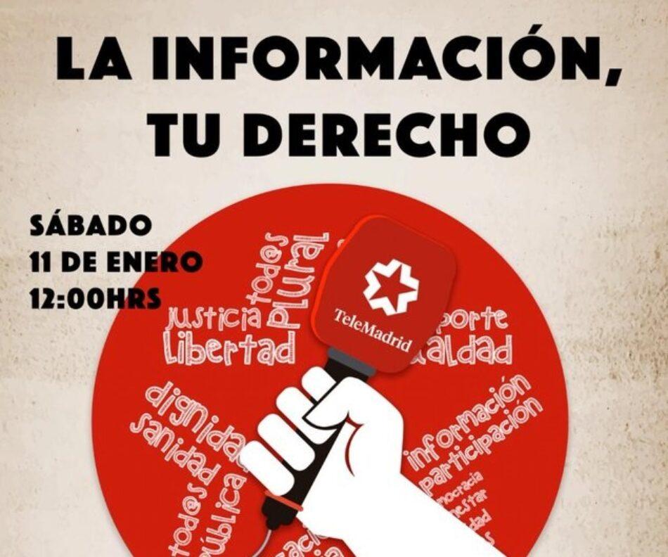 CCOO se moviliza en Madrid en defensa de la Radio Televisión Pública Madrileña