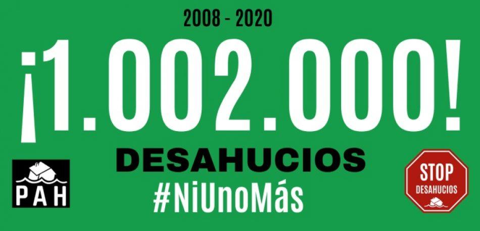 España alcanza la cifra de un millón de desahucios desde 2008, según cifras fidedignas de la PAH