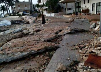 El temporal Gloria hace estragos en un litoral castigado por la construcción