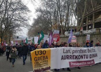 CNT valora positivamente el seguimiento de la huelga general en Euskadi y Navarra de este 30 de enero