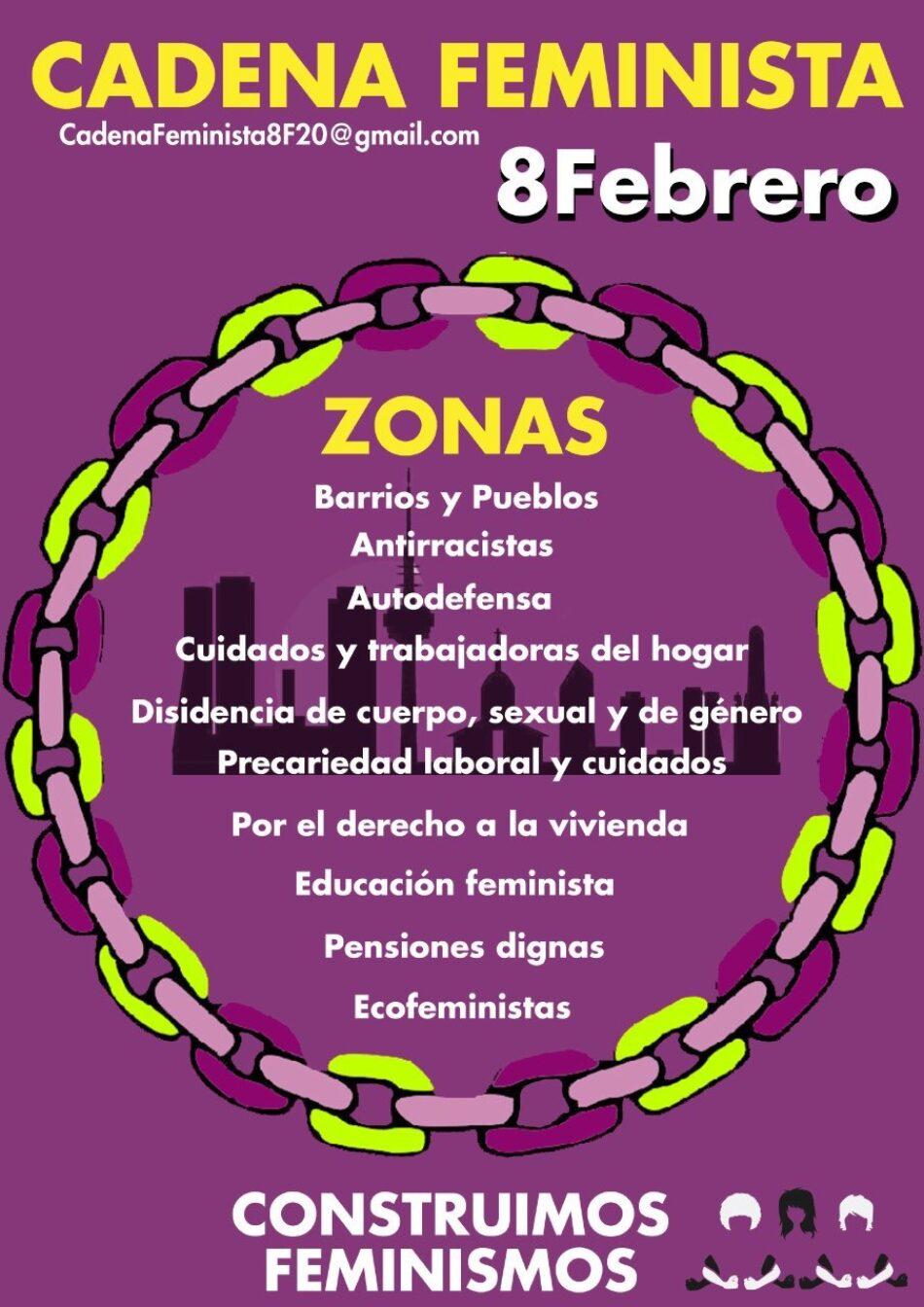 La Comisión 8M convoca una cadena feminista para rodear el centro de Madrid