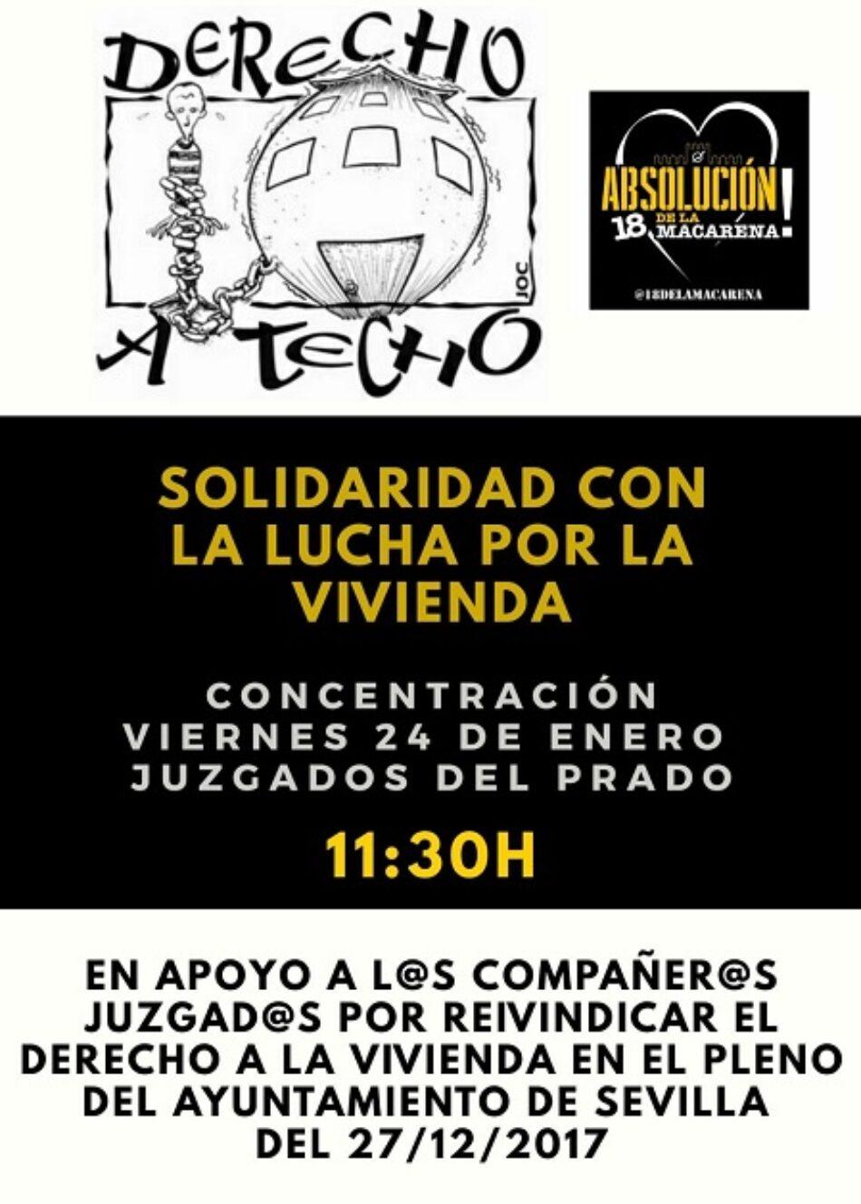 Juicio contra 17 activistas por reivindicar el derecho a la vivienda en un pleno municipal en Sevilla