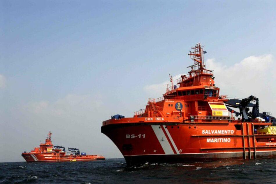 CGT Mar y Puertos exige que se movilicen todas las unidades posibles en la zona para hacer más efectiva la búsqueda de la tripulación del Rúa Mar