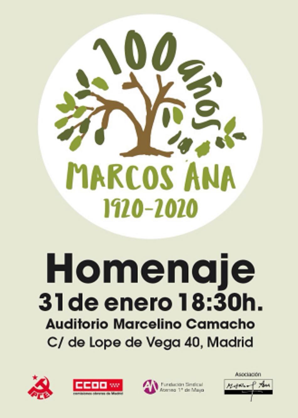 Acto Homenaje a Marcos Ana en el centenario de su nacimiento