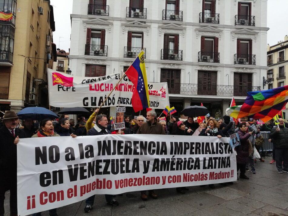Silenciada por los medios de comunicación españoles la concentración en rechazo a Juan Guaidó en Madrid