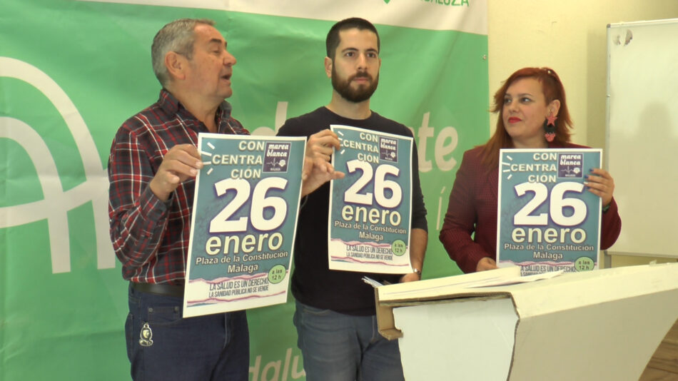Adelante Andalucía llama a acudir a las concentraciones por la sanidad de la Marea Blanca