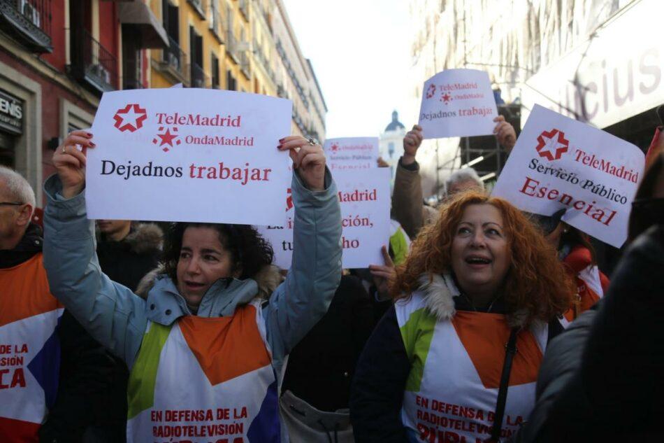 Manifestación en defensa de la radio televisión pública madrileña