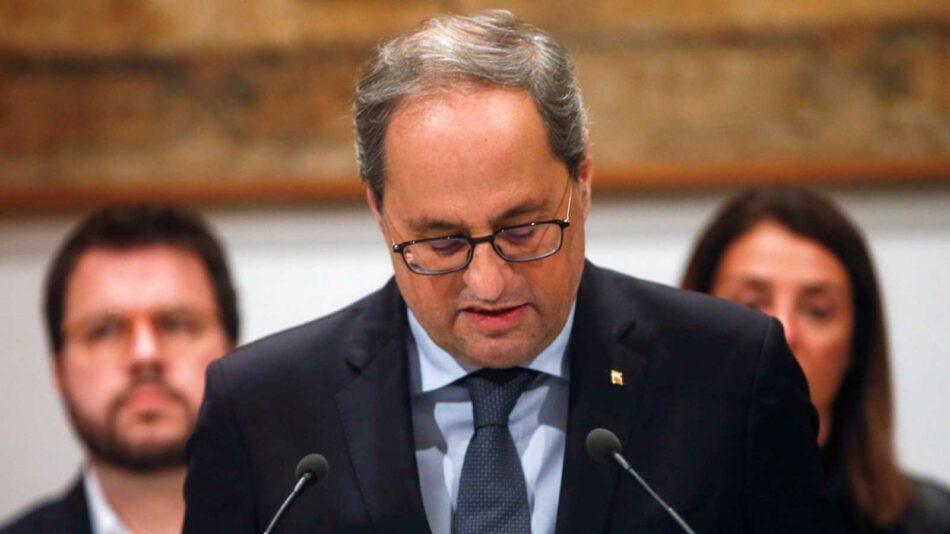 Parlament convoca un pleno sobre la inhabilitación de Torra