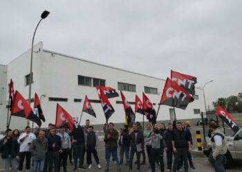 Amplio seguimiento de la huelga de CNT en Mercavalencia