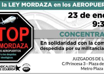 «No a la Ley Mordaza en los aeropuertos»: denuncian despidos de trabajadores en AENA por motivos ideológicos