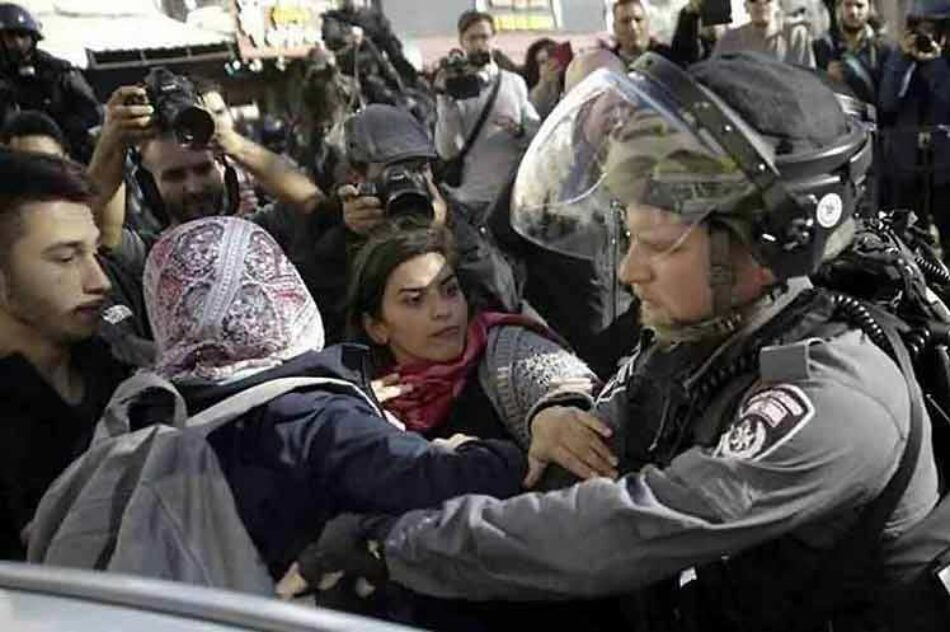 Tropas israelíes reprimen protestas palestinas en Cisjordania