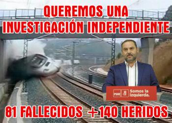 Plataforma Víctimas Tren Santiago: «Ábalos miente, ningunea a la UE y nos desprecia»