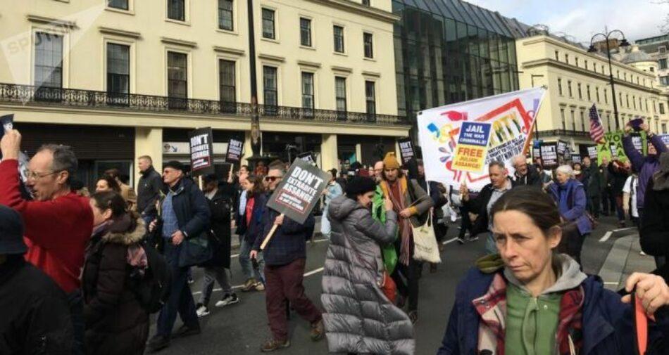 La campaña contra la extradición de Assange gana un fuerte impulso en Londres