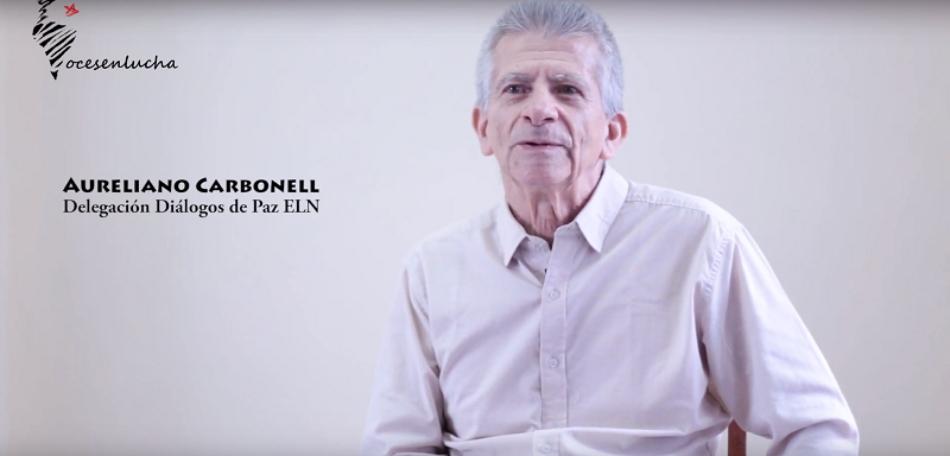 Entrevista a Aureliano Carbonell. Delegación de Diálogos de Paz del ELN