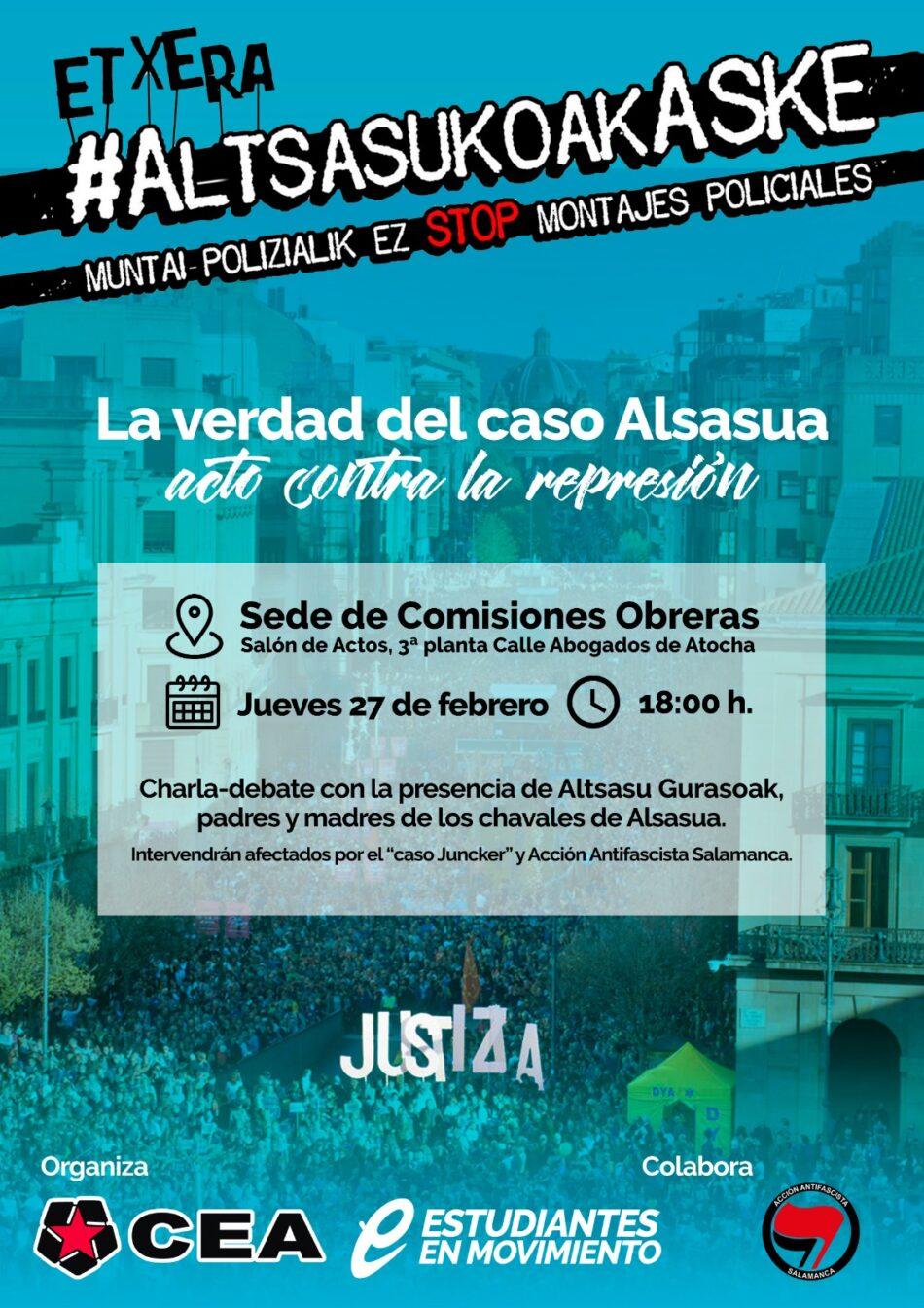Acto contra la represión: «La verdad del caso Alsasua»