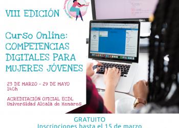 """VIII Edición del Curso Online """"Competencias Digitales Para Mujeres Jóvenes"""" de FMJ"""