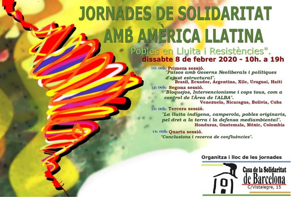 Jornades de solidaritat amb Amèrica Llatina: «Pobles en lluita i resistències»