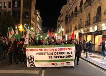 El SAT exigió pensiones, trabajo y educación publicas y dignas en Granada