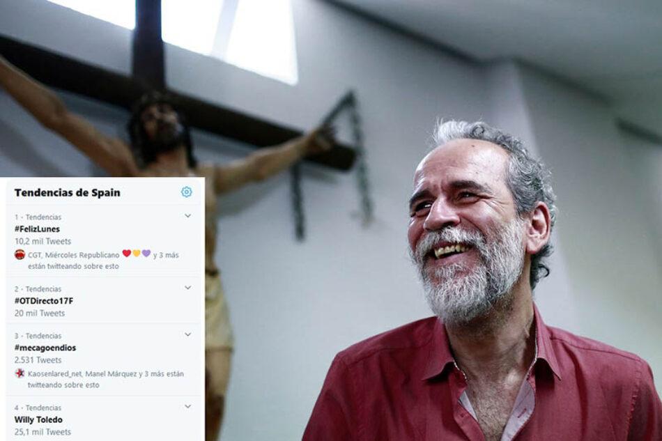 Hoy arranca el juicio a Willy Toledo por cagarse en Dios y en la Virgen: #mecagoendios ya es tendencia en España