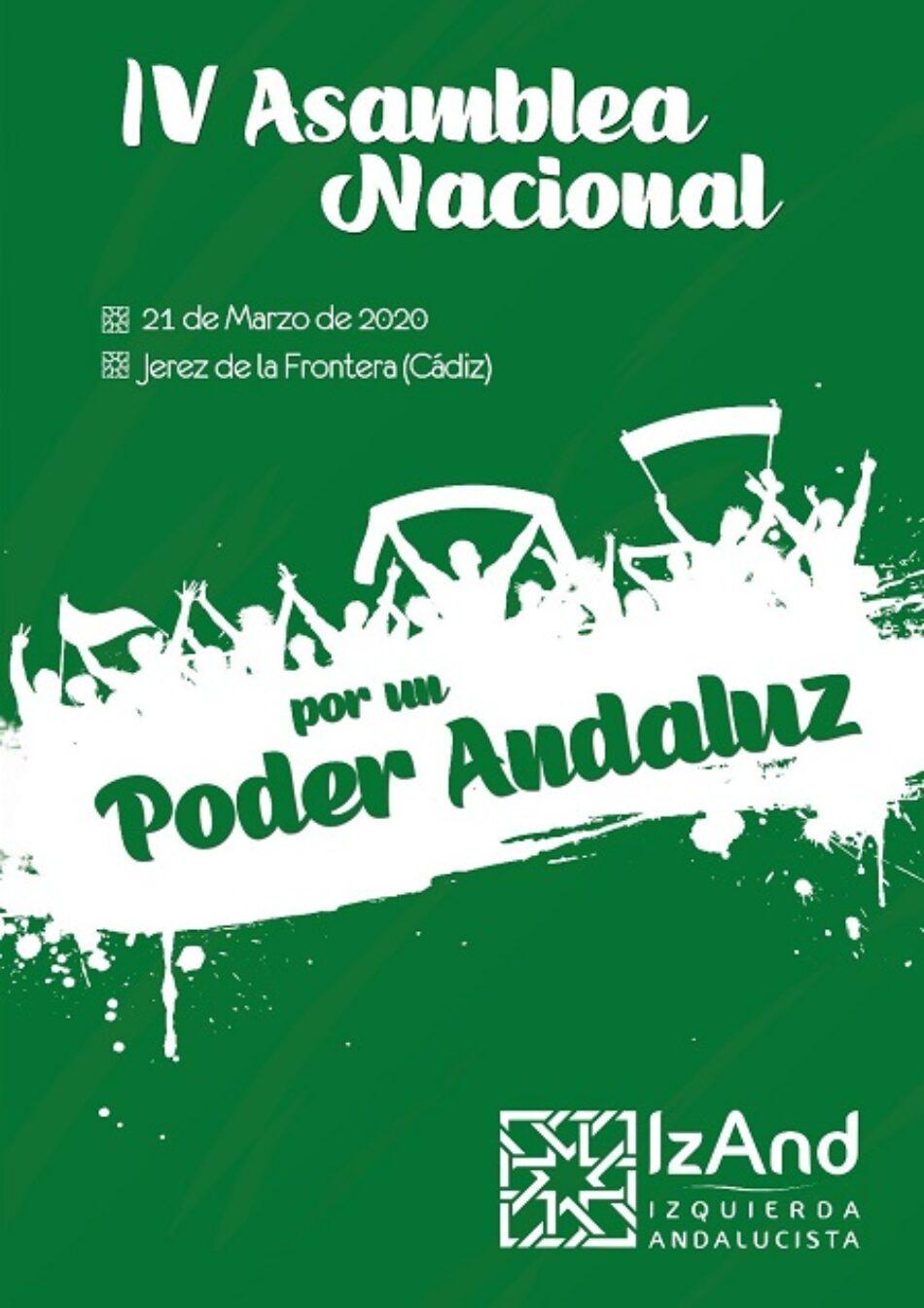 Izquierda Andalucista celebra su IV Asamblea Nacional en Jerez, y apuesta por Adelante Andalucía
