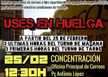 Huelga y concentración en la paquetería urgente de Correos en la provincia de Barcelona