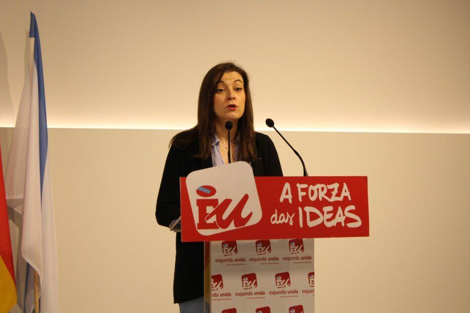 """Eva Solla: """"Esquerda Unida está a traballar nunha Lei de Emprego para mellorar a situación das persoas máis vulnerables"""""""