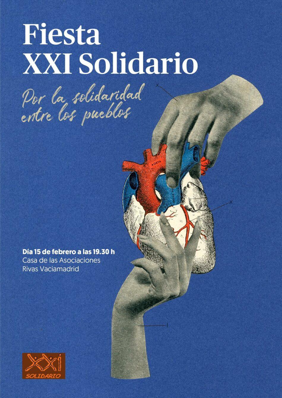 XXI Solidario celebra el próximo 15 de febrero su fiesta anual, a la que invita a todos los vecinos/as de Rivas