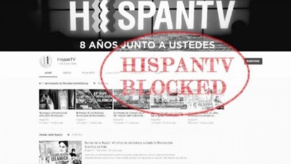 Google bloquea de nuevo acceso a Youtube de HispanTV
