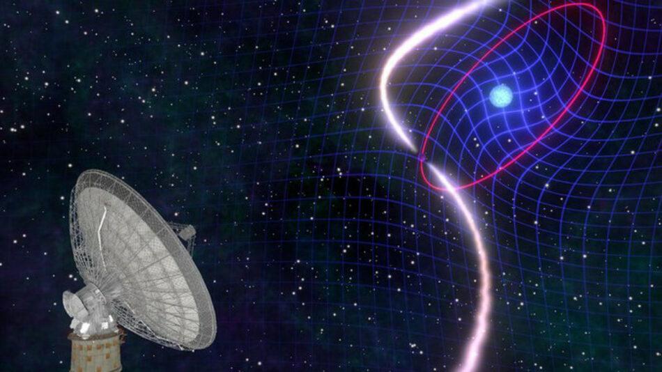 La danza de una enana blanca y un púlsar confirma una predicción de Einstein