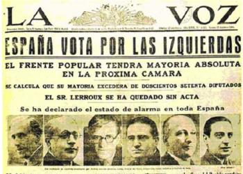 Se cumplen 84 años del triunfo del Frente Popular en España