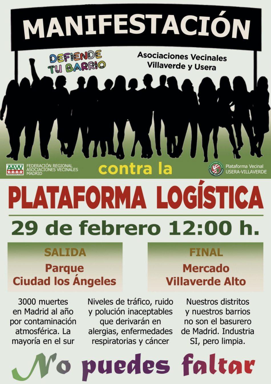 Usera y Villaverde protestan de nuevo contra la plataforma logística PALM-40