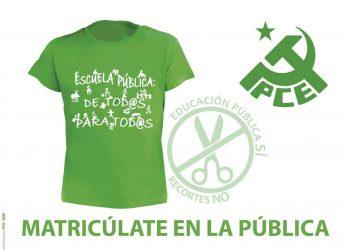 El PCE de El Bierzo llama a la matriculación en la enseñanza pública