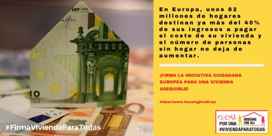 Recta final para lograr las firmas suficientes de la ILP Europea »Vivienda Para Todas»
