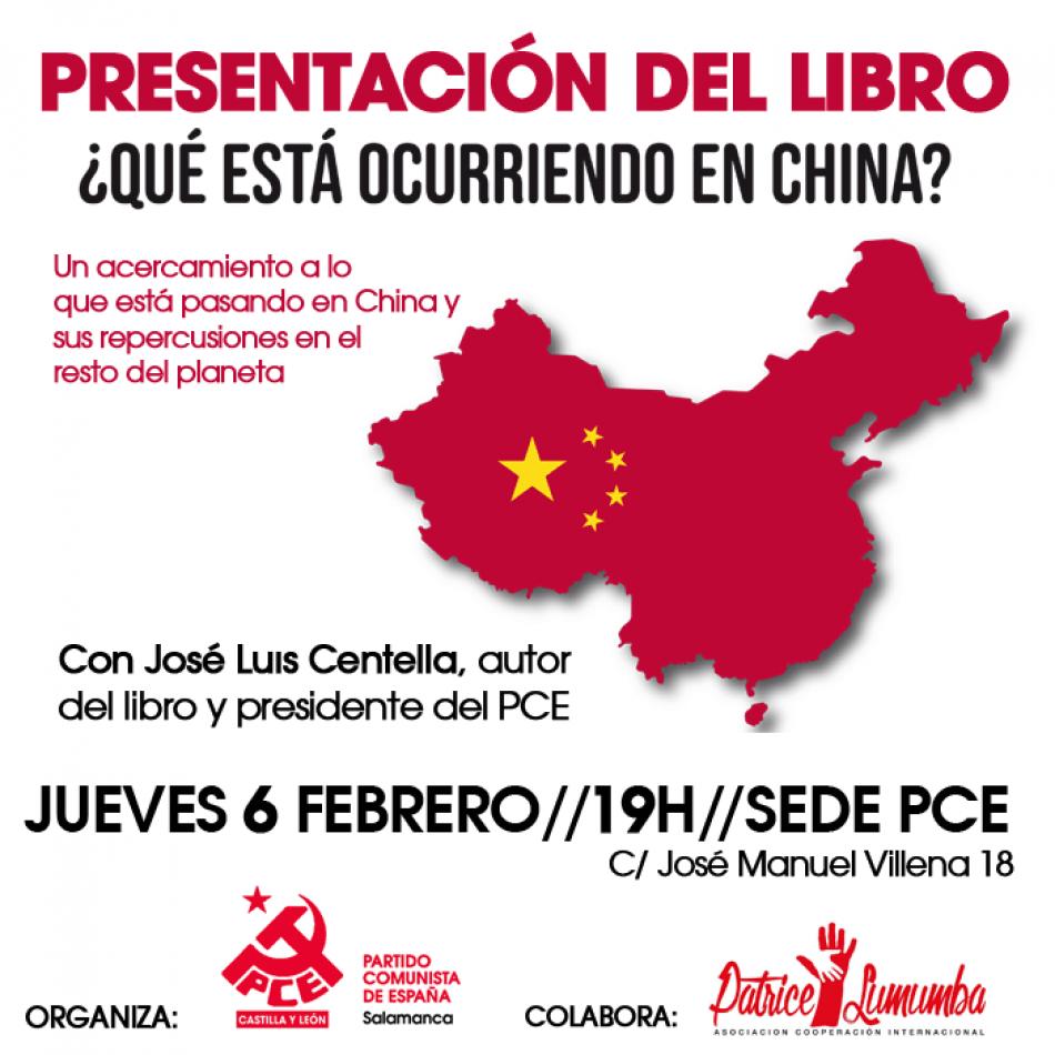 José Luis Centella presentará su libro el jueves 6 de febrero en la sede del PCE-Salamanca