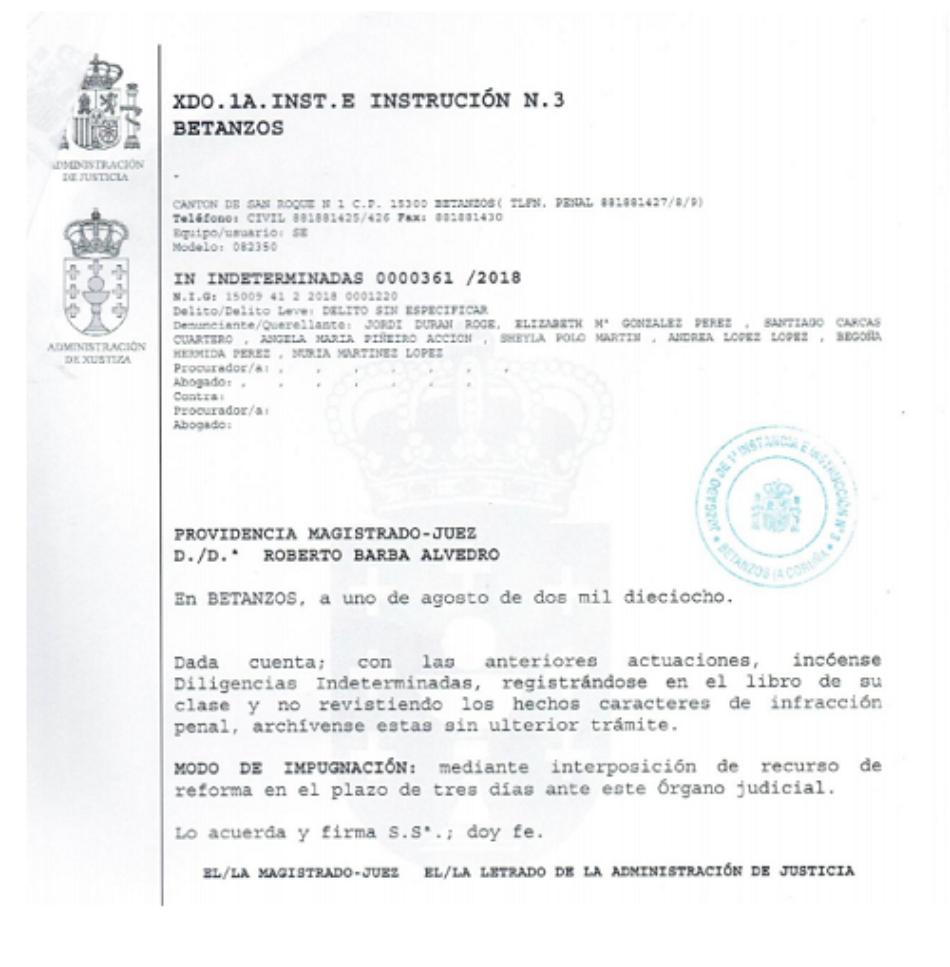 ARDF, sobre el archivo de la causa de 21 asesinados y enterrados en el cementerio de San Lourenzo de Vilarraso