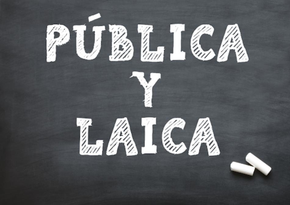 """Campaña estatal unitaria """"Por una Escuela Pública y Laica: Religión fuera de la Escuela"""""""