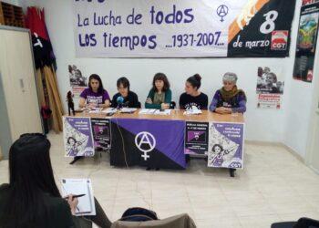 CGT de la Región Murciana presenta sus reivindicaciones con motivo de la Huelga General Feminista de los días 8 y 9 de marzo
