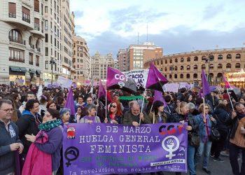 Alta participación de la CGT PV y Murcia el 8M