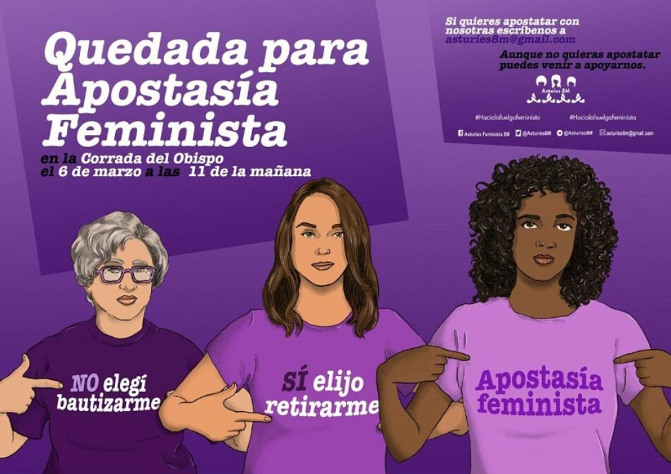 Apostasía Feminista en Asturias: 6 de marzo