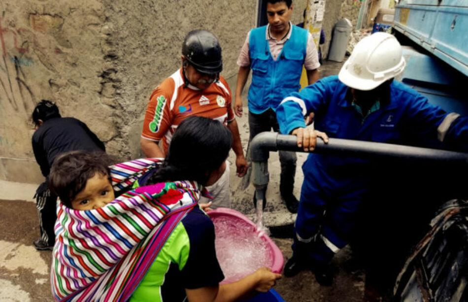 Pese a emergencia por coronavirus: 3.4 millones de peruanos no tienen acceso a agua potable